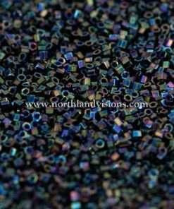 Japanese Seed Bead, 455, Opaque Dark Purple Iris, 15/0 Hex, 14 grams