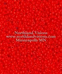 Japanese Seed Bead, Miyuki Round Rocailles 11-407, Opaque Vermillion Red, 11/0 30 grams