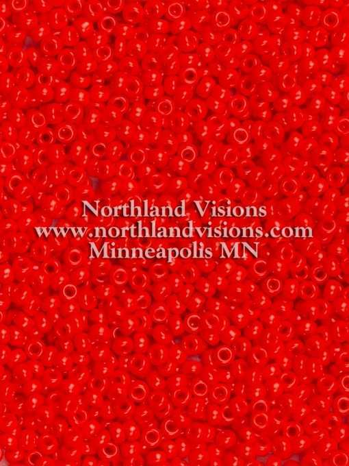 Japanese Seed Bead, Miyuki Round Rocailles 11-407, Opaque Vermillion Red, 11/0 30 grams