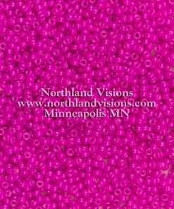 Japanese Seed Bead, Miyuki Round Rocailles 11-415A, Opaque Fuchsia, 11/0 30 grams