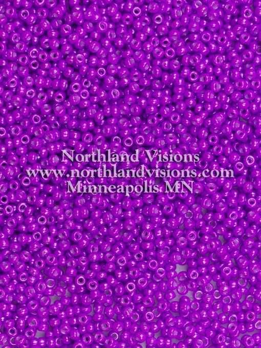 Japanese Seed Bead, Miyuki Round Rocailles 11-438, Opaque Deep Plum Luster, 11/0