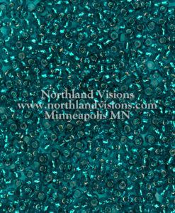 Japanese Seed Bead, 19E, Transparent Capri Silver Lined, 11/0 30 grams