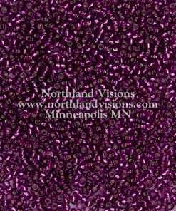 Japanese Seed Bead, Miyuki 11-24A, Transparent Dark Red Purple Silver Lined, 11/0 30 grams