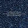 Japanese Seed Bead, Miyuki Round Rocailles 11-31, Transparent Montana Blue Silver Lined, 11/0