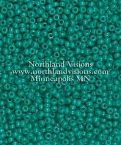 Japanese Seed Bead, Miyuki Round Rocailles 11-412G, Opaque Deep Turquoise Green, 11/0