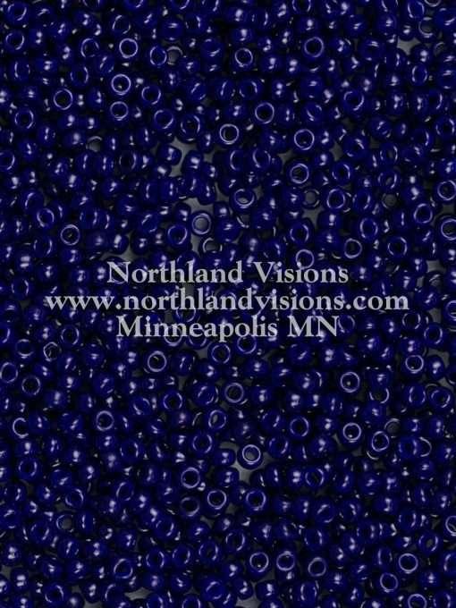 Japanese Seed Bead, Miyuki 11-414C, Opaque Dark Navy Blue, 11/0 30 grams