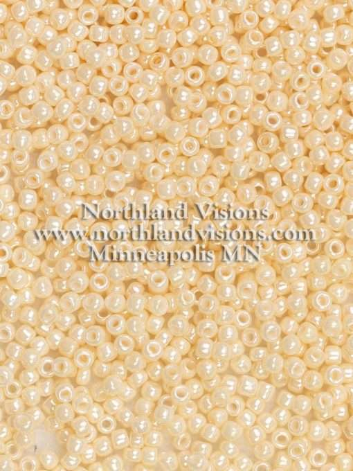 Japanese Seed Bead, 421A, Opaque Ivory Luster, 11/0 30 grams