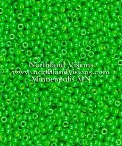 Japanese Seed Bead, Miyuki Round Rocailles 11-431G, Opaque Light Green Luster, 11/0 30 grams