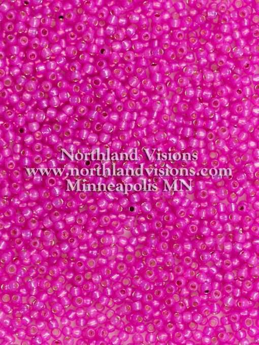 Japanese Seed Bead, TOHO 11-2107/11-584A, Transparent Alabaster Hot Fuchsia Silver Lined, 11/0 30 grams