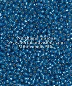 Japanese Seed Bead, Miyuki 11-588, Transparent Alabaster Montana Blue Silver Lined, 11/0 30 grams