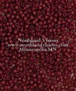 Japanese Seed Bead, Matsuno 11-F373A, Transparent Color Lined Deep Raspberry Matte AB, 11/0 30 grams