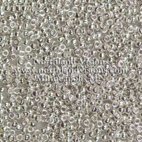 Japanese Seed Bead, 464E, Silver Plated, 11/0 15 grams