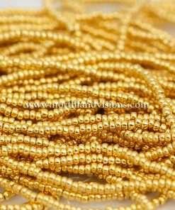 Czech Seed Bead, 68304, 24K Gold Metallic, Loose, 11/0 10 grams