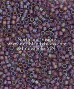 Miyuki Delica Cylinder Bead, DB0869, Transparent Mauve AB Matte, 11/0 7 grams