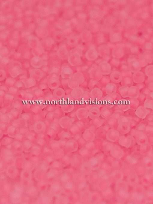 Japanese Seed Bead, Matsuno 11-F207D, Crystal Neon Candy Pink Matte, 11/0