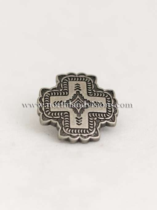 "Santa Fe Silver Cross Concho With Post, 1.25"" 1 Piece"