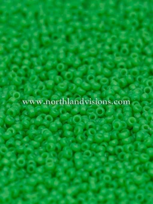 Japanese Seed Bead, Miyuki 15-D4476, Duracoat Opaque Fiji Green, 15/0 14 grams