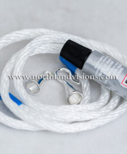 18502-2-Rope-Kit-Wrap-Silver-End-Caps-E6000-Glue-Northland-Visions