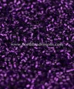 Japanese Seed Bead, 26, Transparent Dark Purple Silver Lined, 15/0 Hex, 14 grams