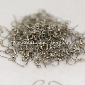 4129-2-Stainless-Coil-Ball-ear-wire-Northland-Visions