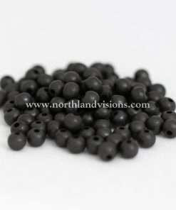 Solid Brass Bead Oxidized, Small Hole, 8mm, 100 Pieces