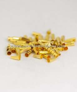 Gold Plated Cones, 1/2 inch, 100 Pieces