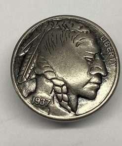 """Imitation Buffalo Nickel Silver Coin Concho, 7/8"""" 1 Piece, Heads"""