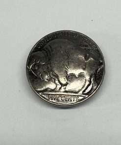 "Imitation Buffalo Nickel Silver Coin Concho Replica, 7/8"" 1 Piece, Tails"