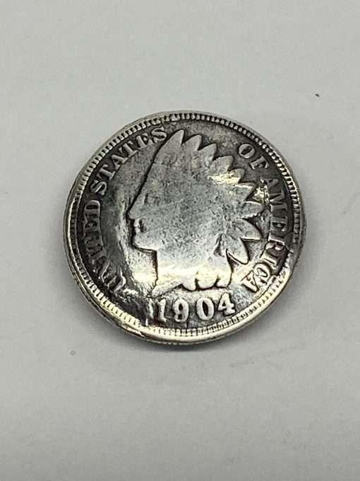 "Imitation Indian Head Penny Silver Coin Concho Replica, .75"" 1 Piece, Heads"