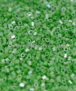 Japanese Seed Bead, 431, Opaque Green Luster, 15/0 Hex, 14 grams