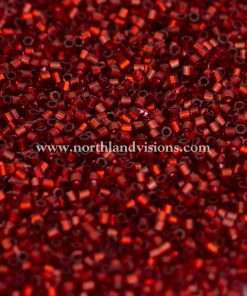 Japanese Seed Bead, 11A, Transparent Dark Red Silver Lined, 15/0 Hex, 14 grams