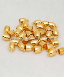 Bullet EndCap, Gold Plated, 1 Pair, 5mm Used For Necklace Ends / Rope or Cord