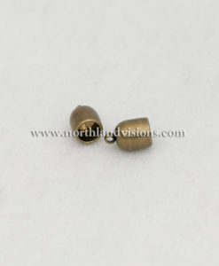 18508-6mm-Antique-Brass-Bullet-End-Caps-Northland-Visions-Findings