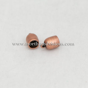 18509-6mm-Antique-Copper-Bullet-End-Caps-Northland-Visions-Findings