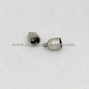 18510-2-6mm-Antique-Silver-Bullet-End-Caps-Northland-Visions-Findings