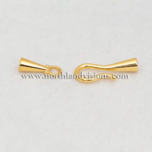 18521-3.2mm-Gold-Hook-Eye-End-Caps-Northland-Visions-Findings