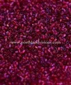 Japanese Seed Bead, 299J, Transparent Dark Fuchsia AB, 15/0 Hex, 14 grams