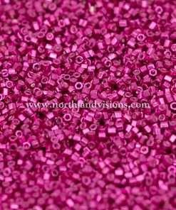 Japanese Seed Bead, 477, Galvanized Fuchsia Metallic, 15/0 Hex, 14 grams