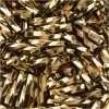 Japanese Bugle Bead, Miyuki BGL2-9041, Twisted Liquid Gold, 6mm 7 grams