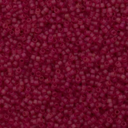 Miyuki Delica Cylinder Bead, DB0778, Transparent Cranberry Matte, 11/0 7 grams