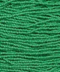 Czech Seed Bead, Opaque Terra Pearl Mint Green, 11/0 1 Hank