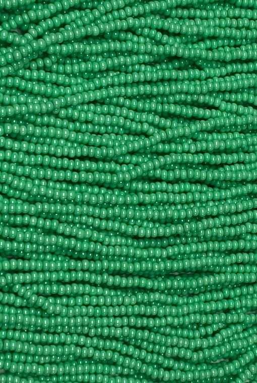 Czech Seed Bead, Opaque Terra Pearl Mint Green, 11/0 1 Hank