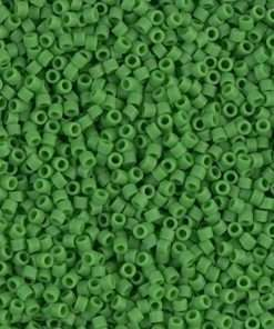 Miyuki Delica Cylinder Bead, DB0754, Opaque Pea Green Matte, 11/0 7 grams