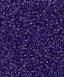 Miyuki Delica Cylinder Bead, DB0785, Transparent Violet Matte, 11/0 7grams