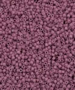 Miyuki Delica Cylinder Bead, DB0800, Opaque Rose Matte, 11/0 7 grams