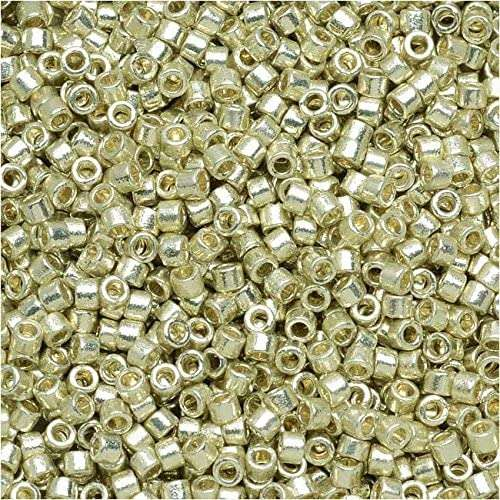 Miyuki Delica Cylinder Bead, DB1831, Duracoat Galvanized Silver, 11/0 7 grams