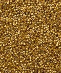 Miyuki Delica Cylinder Bead, DB1832, Duracoat Galvanized Gold, 11/0 7 grams