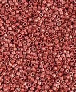 Miyuki Delica Cylinder Bead, DB1838F, Duracoat Galvanized Berry Matte, 11/0 7 grams