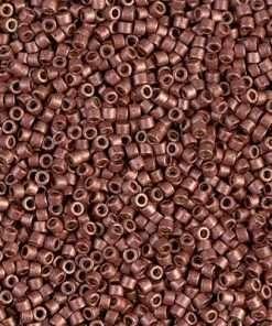 Miyuki Delica Cylinder Bead, DB1842F, Duracoat Galvanized Dark Cranberry Matte, 11/0 7 grams