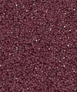Japanese Seed Bead, 418A, Opaque Light Plum, 15/0 Hex, 14 grams